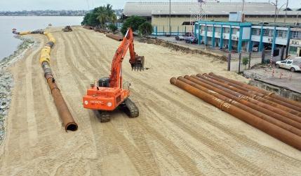 Remblai Terminal céréalier Abidjan