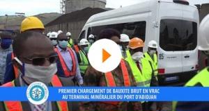 Premier chargement de bauxite au terminal minéralier du PAA